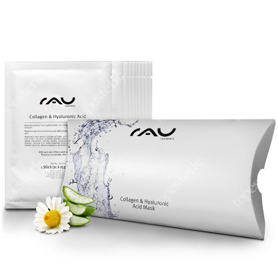 RAU Cosmetics Collagen & Hyaluronic Acid Mask Maska w płatach 10 szt.