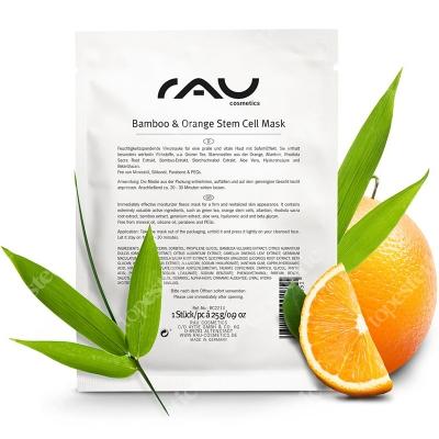 RAU Cosmetics Bamboo & Orange Stem Cell Mask Nawilżająca maska w płacie 25 g