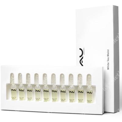 RAU Cosmetics White Tea Moist Ampoules Ampułki nawilżające z białą herbatą i hialuronem 10x2 ml