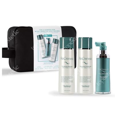 Regenesis Total Care Regimen Set - Longer Hair ZESTAW Szampon 250 ml + Odżywka 250 ml + Spray 60 ml + Kosmetyczka 1 szt.