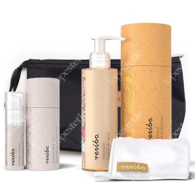 Resibo Cleansing Oil + Cream Glow + Kosmetyczka ZESTAW Olejek do demakijażu 150 ml + Rozświetlający krem 30 ml + Kosmetyczka