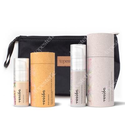 Resibo Eye Cream + Cream Glow + Kosmetyczka ZESTAW Krem pod oczy 15 ml + Rozświetlający krem 30 ml + Kosmetyczka 1 szt.