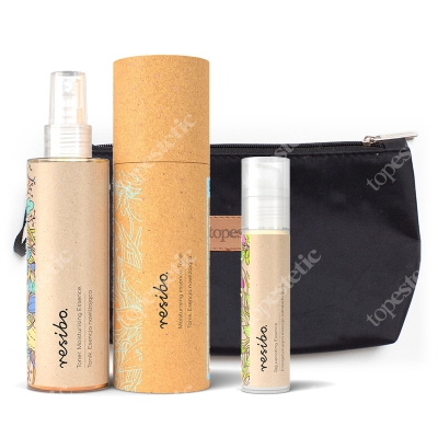 Resibo Moisturizing Essence + Rejuvenating Essence + Kosmetyczka ZESTAW Tonik - mgiełka 150 ml + Esencja odmładzająca 50 ml + Kosmetyczka 1 szt