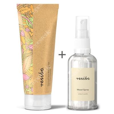 Resibo Natural Face Washing Gel + Mood Spray ZESTAW Naturalny żel myjący do twarzy z ekstraktem z brzoskwini 125 ml + Mgiełka zapachowa 50 ml