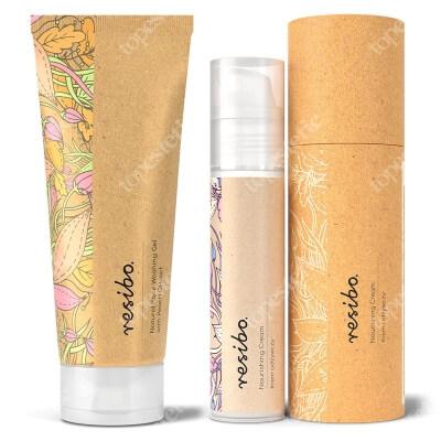 Resibo Natural Face Washing Gel + Nourishing Cream ZESTAW Naturalny żel myjący do twarzy z ekstraktem z brzoskwini 125 ml + Krem odżywczy 50 ml