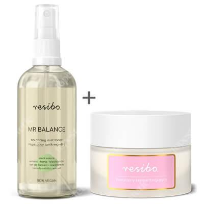 Resibo Natural Lifting Cream + Mr Balance ZESTAW Naturalny krem liftingujący 50 ml + Regulujący tonik - mgiełka 100 ml