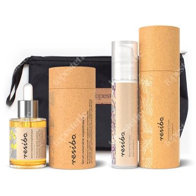Resibo Nourishing Cream + Serum + Kosmetyczka ZESTAW Krem odżywczy 50 ml + Serum wygładzające 30 ml + Kosmetyczka 1 szt.