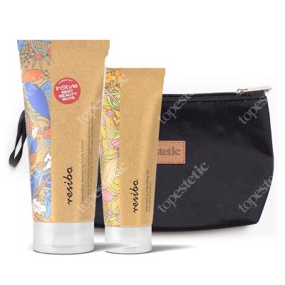 Resibo Slimming Body Lotion + Natural Face Washing Gel + Kosmetyczka ZESTAW Balsam wyszczuplający 200 ml + Żel myjący do twarzy 125 ml + Kosmetyczka 1 szt.
