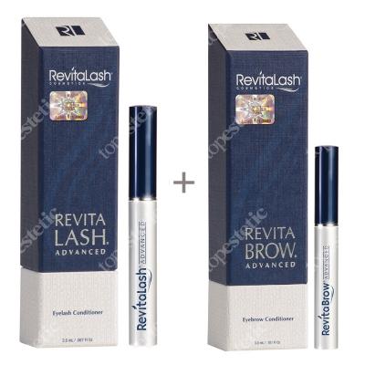 Revitalash Eyelash Conditioner RevitaLash Advanced + RevitaBrow Advanced ZESTAW Odżywka stymulująca wzrost rzęs - 3 miesięczna kuracja 2,0 ml + Odżywka stymulująca wzrost brwi 3 ml