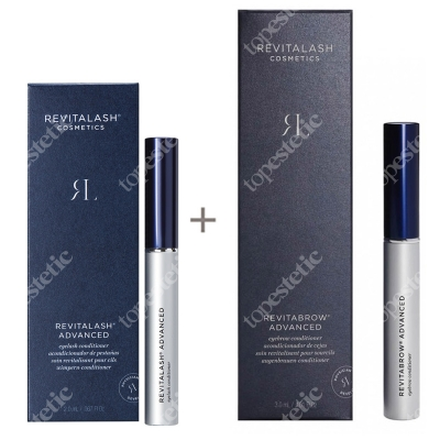 Revitalash Eyelash Conditioner RevitaLash Advanced + RevitaBrow Advanced ZESTAW Odżywka stymulująca wzrost rzęs - 3 miesięczna kuracja 2,0 ml + Odżywka stymulująca wzrost brwi 3 ml