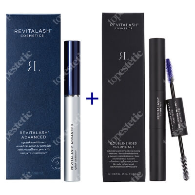 Revitalash Power of Beauty Clinic ZESTAW Odżywka stymulująca wzrost rzęs - 3 miesięczna kuracja 2,0 ml + Tusz i podkład 2w1, 11 ml