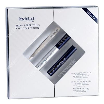 Revitalash Brow Perfecting Collection ZESTAW Odżywka stymulująca wzrost brwi 3 ml + Wielozadaniowy stylizujący żel do brwi 3 ml + Pęseta