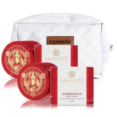 Samarite Supreme Balm 2 Pack + Kosmetyczka Topestetic ZESTAW Regenerujący balsam do ciała 90 ml x 2 + Komsetyczka 1 szt