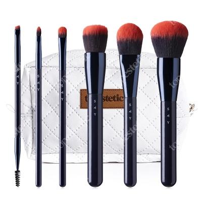 Say Make Up Start Basic Brush ZESTAW Podstawowy 6 pędzli nr 1,2,5,8,9,11 + Kosmetyczka