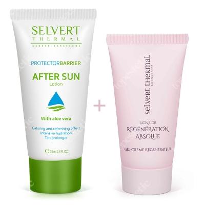 Selvert Thermal After Sun Lotion + Regenerating Gel-Cream With Snail Protein Extract ZESTAW Balsam po opalaniu 75 ml + Żel-krem regenerujący z wyciągiem z białka ślimaka 50 ml