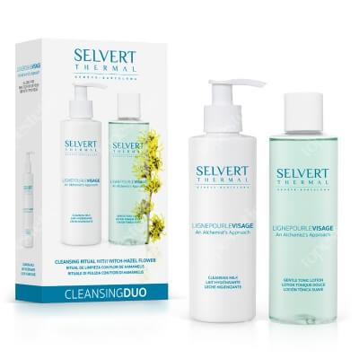 Selvert Thermal Cleansing Duo ZESTAW Łagodny tonik do skóry wrażliwej lub suchej 200 ml + Łagodne mleczko zmywające 200 ml