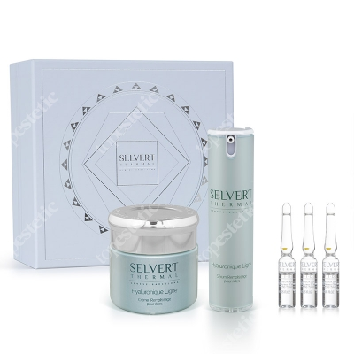 Selvert Thermal Hyaluronique Set ZESTAW Krem 50 ml + Serum 15 ml + Ampułki 3x1,5 ml