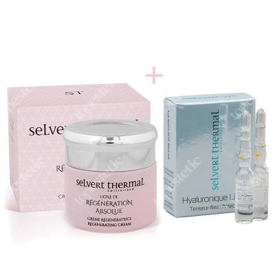 Selvert Thermal Regenerating Cream With Snail Protein Extract + Hialuronique Flash ZESTAW Krem z wyciągiem z białka ślimaka 50 ml + Ampułki hialuronowe 2x1,5 ml