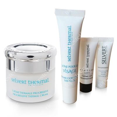 Selvert Thermal Visage Set ZESTAW Krem progresywny 50 ml + Balsam pod oczy 15 ml + Próbki 5 ml