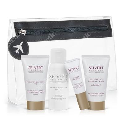 Selvert Thermal Zestaw podróżny Daily Beauty Care ZESTAW Woda Micelarna 50 ml + Krem Hydro-Aktywny 30 ml + Krem z witaminąC 30 ml + Krem na Okolice Oczu 10 ml