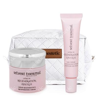 Selvert Thermal Zestaw Regenerujący ZESTAW Żel-krem na okolice oczu 15 ml + Krem regenerujący 50 ml + Kosmetyczka