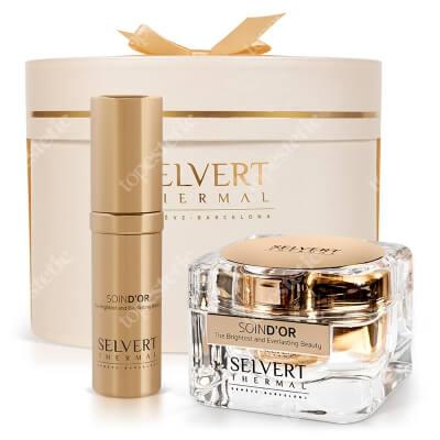 Selvert Thermal Złoty Kuferek ZESTAW Krem z czystym złotem 50 ml + Olej z czystym złotem 30 ml