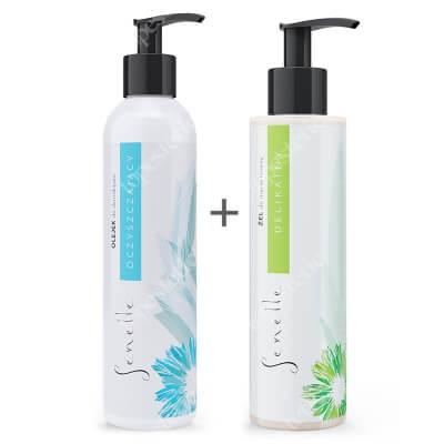 Senelle Codzienne Oczyszczanie ZESTAW Oczyszczający olejek do demakijażu 150 ml + Delikatny żel saponinowy do mycia twarzy 150 ml