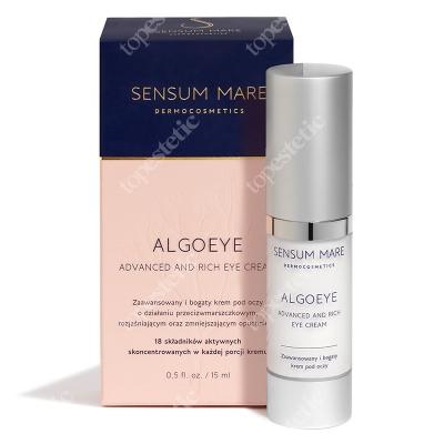 Sensum Mare AlgoEye Advanced And Rich Eye Cream Zaawansowany i bogaty krem pod oczy o działaniu przeciwzmarszczkowym 15 ml