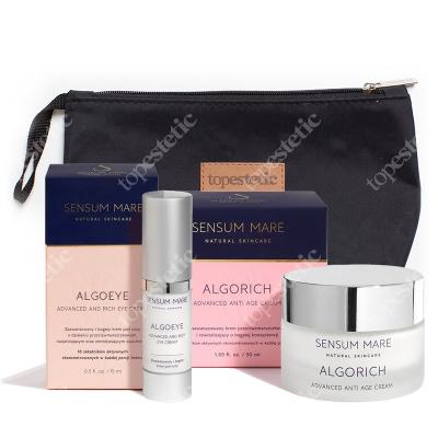 Sensum Mare AlgoEye & Algorich Cream ZESTAW Bogaty krem pod oczy 15 ml + Bogaty krem przeciwzmarszczkowy 50 ml + Kosmetyczka