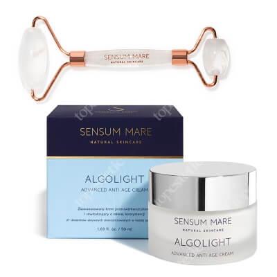 Sensum Mare Algolight Cream & Crystal Roller ZESTAW Krem rewitalizujący o lekkiej konsystencji 50 ml + Roller z kryształu górskiego 1 szt.