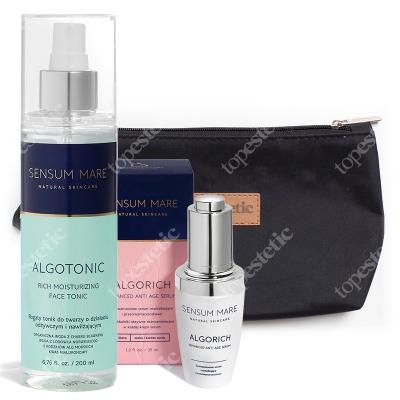 Sensum Mare AlgoRich Serum & AlgoTonic ZESTAW Serum przeciwzmarszczkowe 35 ml + Tonik do twarzy 200 ml + Kosmetyczka