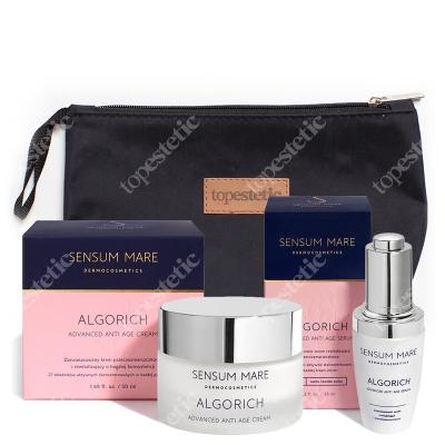 Sensum Mare AlgoRich Set ZESTAW Serum rewitalizujące i przeciwzmarszczkowe 35 ml + Zaawansowany krem rewitalizujący i przeciwzmarszczkowy 50 ml + Kosmetyczka