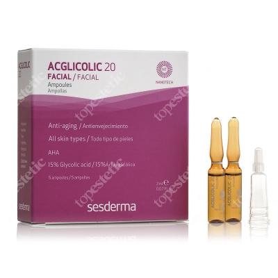 Sesderma Acglicolic 20 Ampułki o silnym działaniu przeciwstarzeniowym 5 x 2 ml