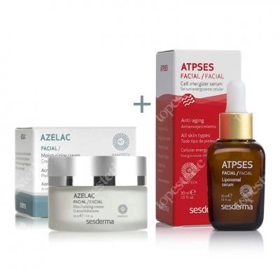 Sesderma Azelac + Atpses ZESTAW Krem nawilżający do twarzy + Serum energetyzujące komórki 50 ml, 30 ml