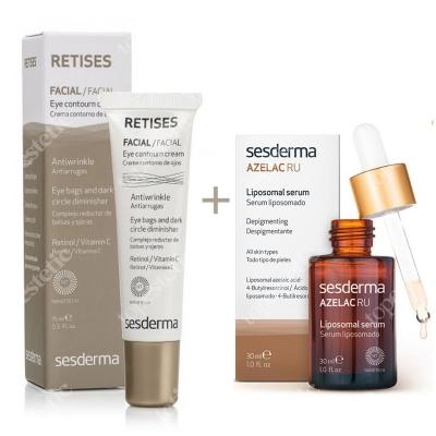 Sesderma Azelac RU Liposomal Serum + Retises 0,05% ZESTAW Serum liposomowe 30 ml + Przeciwzmarszczkowy krem pod oczy 15 ml
