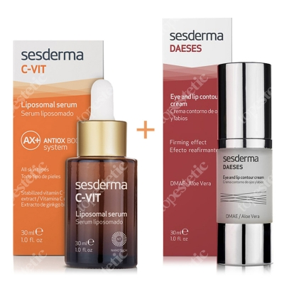 Sesderma C-VIT Liposomal Serum + Daeses Eye and Lip Contour Cream ZESTAW Serum liposomowe 30 ml + Krem kontur oczu i ust 30 ml