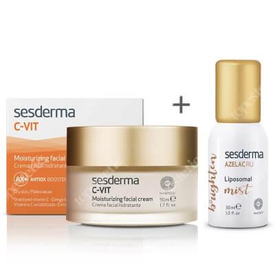 Sesderma C-VIT Moisturizing Facial Cream + Azelac Ru Liposomal Mist ZESTAW Krem nawilżający 50 ml + Mgiełka depigmentująca 30 ml