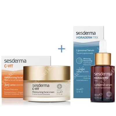 Sesderma C-VIT Moisturizing Facial Cream + Hidraderm TRX Liposomal Serum ZESTAW Krem nawilżający 50 ml + Serum Liposomowe 30 ml