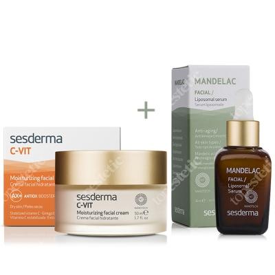 Sesderma C-VIT Moisturizing Facial Cream + Mandelac Liposomal Serum ZESTAW Krem nawilżający 50 ml + Serum liposomowe 30 ml