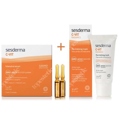 Sesderma C-VIT Radiance + C-VIT Intensive Serum ZESTAW Rewitalizująca maska 30 ml + Intensywne Serum 12% Ampułki 5 x 2 ml
