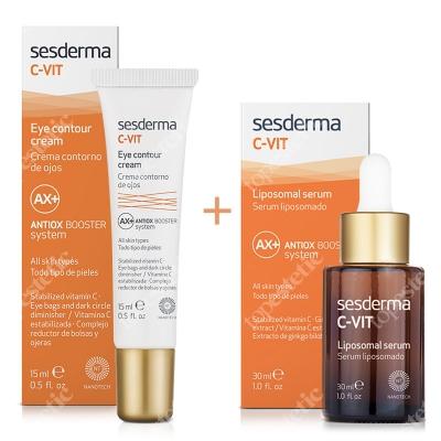 Sesderma C-VIT Serum + Eye Contour Cream ZESTAW Serum liposomowe 30 ml + Krem pod oczy 15 m