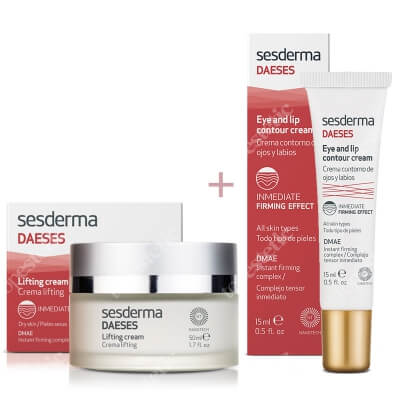 Sesderma Daeses Lifting Cream + Eye and Lip Contour Cream ZESTAW Krem liftingujący 50 ml + Krem kontur oczu i ust 15 ml