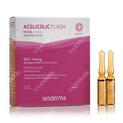 Sesderma Efekt Flash - Acglicolic Classic + C-VIT Intensive Serum ZESTAW Ampułka o silnym działaniu przeciwstarzeniowym 2 ml + Ampułka intensywne serum C-VIT 12% 2 ml