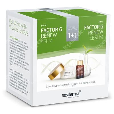 Sesderma Factor G Cream + Serum ZESTAW Regenerujący krem przeciwstarzeniowy 50 ml + Serum z pęcherzykami lipidowymi 30 ml Kartonik