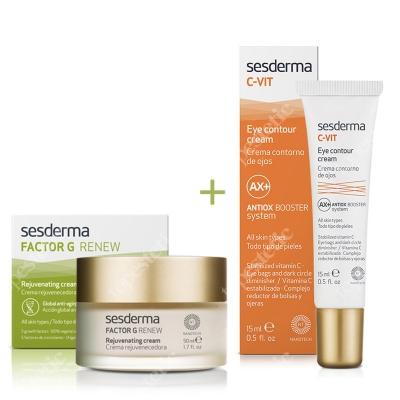 Sesderma Factor G - Rejuvenating Cream + C-VIT Eye Contour Cream ZESTAW Regenerujący krem przeciwstarzeniowy 50 ml + Krem pod oczy 15 ml