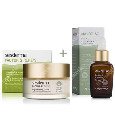 Sesderma Factor G - Rejuvenating Cream + Mandelac Liposomal Serum ZESTAW Regenerujący krem przeciwstarzeniowy 50 ml + Serum liposomowe 30 ml