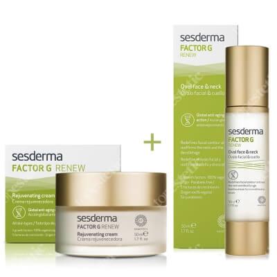 Sesderma Factor G - Rejuvenating Cream + Oval Face & Neck - Factor G ZESTAW Regenerujący krem przeciwstarzeniowy 50 ml + Krem na dekolt i szyję 50 ml