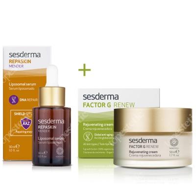 Sesderma Factor G - Rejuvenating Cream + Repaskin Mender Serum 30ml ZESTAW Regenerujący krem przeciwstarzeniowy 50 ml + Serum 30ml