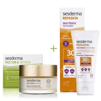 Sesderma Factor G - Rejuvenating Cream + Repaskin Silk Touch SPF 30 ZESTAW Regenerujący krem przeciwstarzeniowy 50 ml + Wysoka ochrona przeciwsłoneczna SPF 30 50 ml
