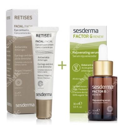 Sesderma Factor G - Rejuvenating Serum + Retises 0,05% ZESTAW Serum z pęcherzykami lipidowymi 30 ml + Przeciwzmarszczkowy krem pod oczy 15 ml